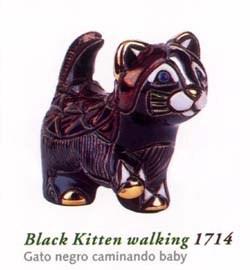 Rinconada gato negro Baby 1714/15 gato negro caminando