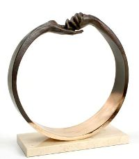 Lorenzo Quinn - Give and take Bronze plated