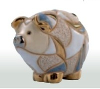 Family striped Pigs. DeRosa-Rinconada. Baby streaky pork. F330