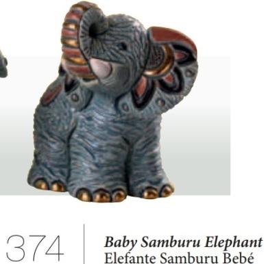 Familia de elefantes de Samburu - DeRosa-Rinconada Elefante de Samburu bebé, F374