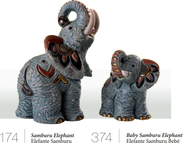 Familia de elefantes de Samburu - DeRosa-Rinconada Familia de elefantes de Samburu