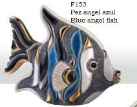 Familia de Peces angel azul. DeRosa-Rinconada. Pez angel azúl. F153