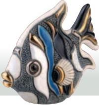Familia de Peces angel azul. DeRosa-Rinconada. Pez angel azúl bebé. F353