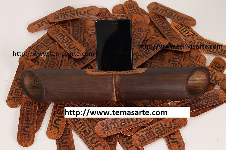 Altavoz artesanal sin tallado - Altavoces artesanales de bambú1