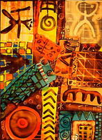 "Eva Traumann - Pintadera ""Crazy patchwork"""