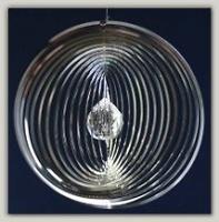 Rund Kühlergrill mit Kristallkugel - Wind Mobile und Spirale