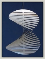 Spirale Treppe rund Edelstahl - Wind Mobile und Spirale
