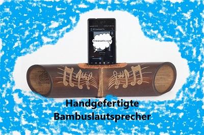 Handgefertigte Bambuslautsprecher