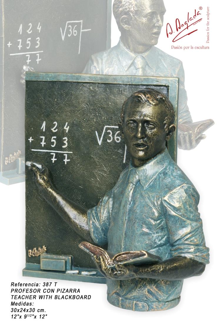 Angeles Anglada - Teacher Teacher with blackboard