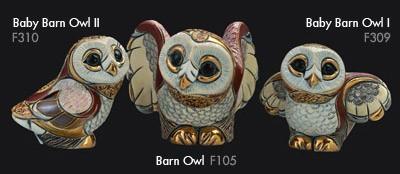 Family of barn owl - DeRosa Rinconada Owl family