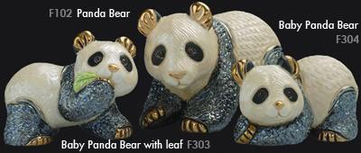 Familia de osos panda - DeRosa Rinconada Familia de osos panda