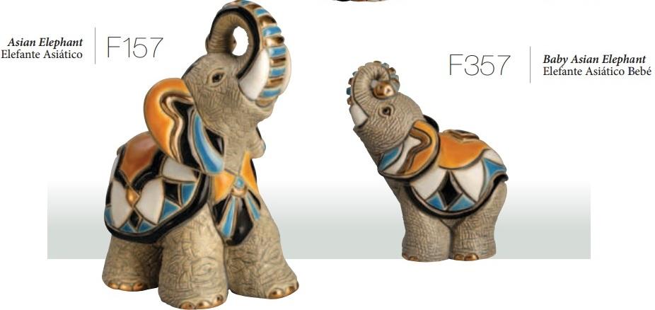 Familia de elefantes asiáticos - DeRosa Rinconada Familia de elefantes asiáticos