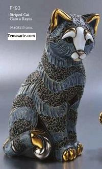 Familia de gatos a rayas - DeRosa Rinconada Gato a rayas F193