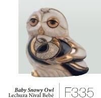 Familie von Schneeeulen. DeRosa-Rinconada. Schnee-Eule Baby. F335