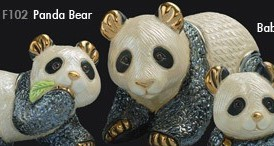 Familia de osos panda - DeRosa Rinconada oso panda f102