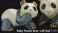 Familia de osos panda - DeRosa Rinconada oso panda baby comiendo hoja f303