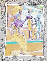 Afrikanische Bronzefiguren