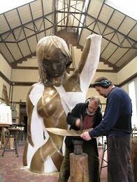 Presentación de la escultura 'Venus de Armilla'