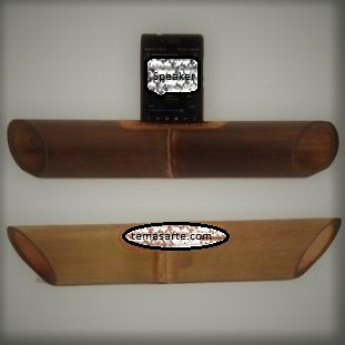 Altavoz artesanal sin tallado - Altavoces artesanales de bambú