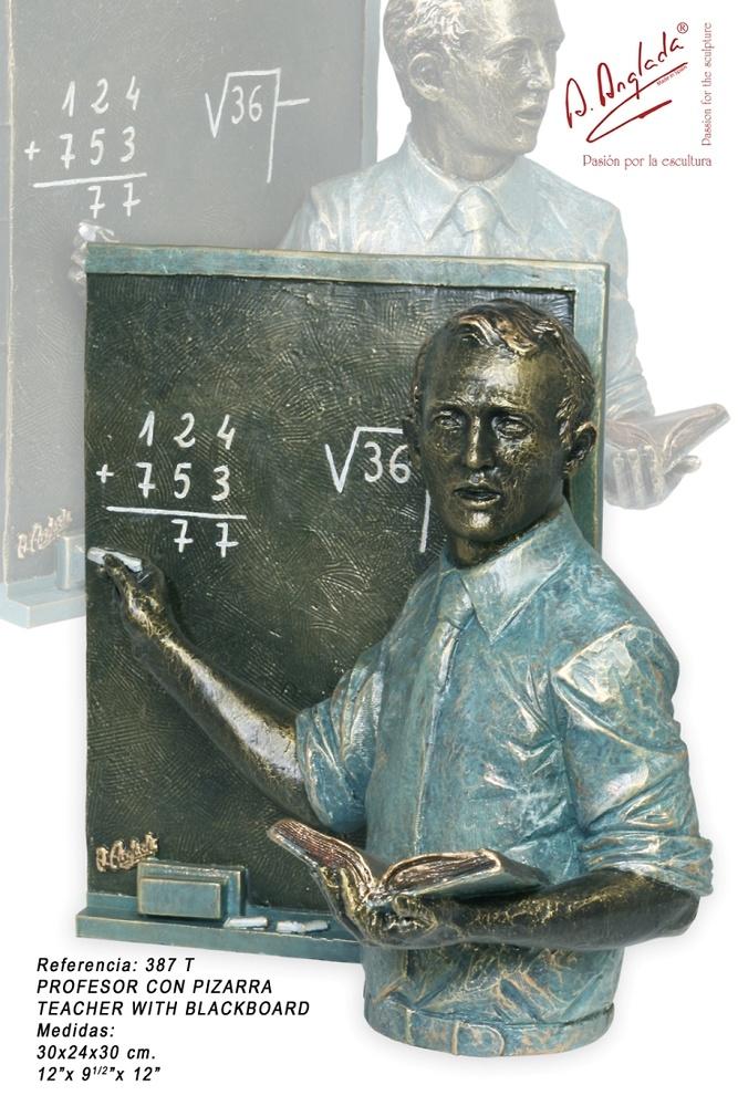 Angeles Anglada - Teacher with blackboard