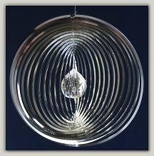 Rejilla circular de acero con bola de cristal