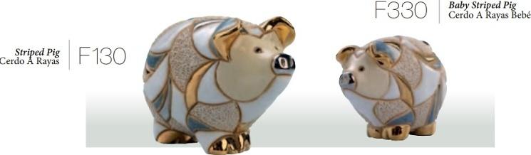 Familia completa de Cerdos rayados