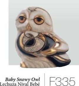 Lechuza nival bebé. F335