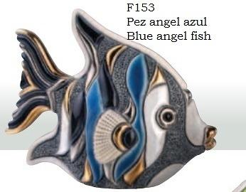 Blauer Angelfish. F153