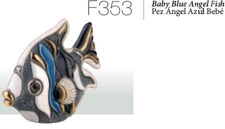 Baby blue angelfish. F353