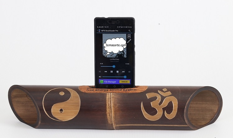 Handmade speaker with carving