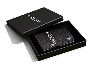 I-clip Wallet (Farbe dunkle Teakholz)