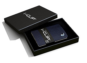I-clip Wallet (blaue Farbe)