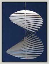 Móvil de viento espiral escalera de caracol