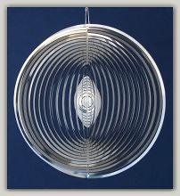 Móvil de viento espiral redondo de acero inoxidable, de 153 mm