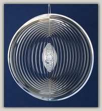 Wind Mobile spiral round stainless steel, 153 mm