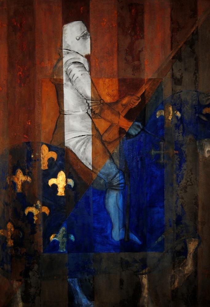 Montserrat Faura - El Caballero de la Rosa 1 (163 x 113 cm)