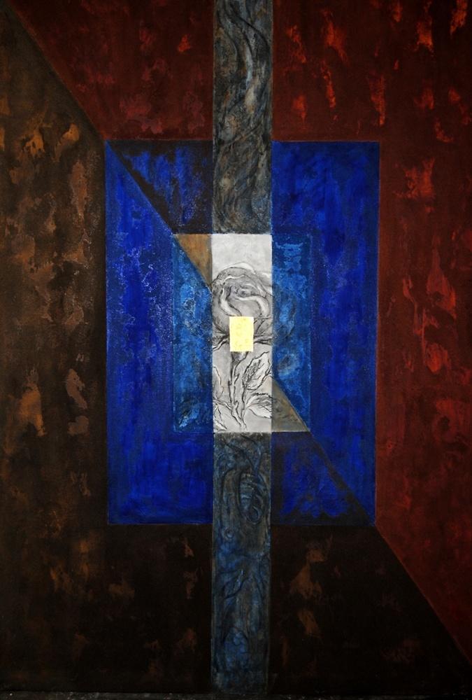 Montserrat Faura - El Caballero de la Rosa 2 (163 x 113 cm)