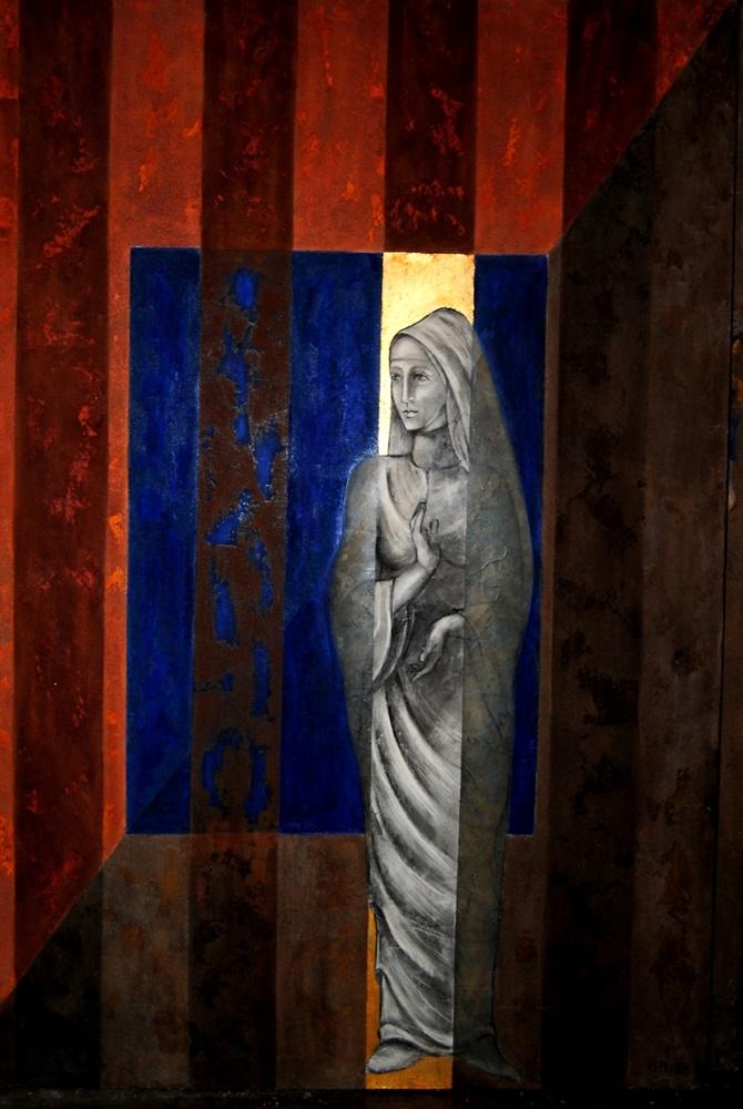 Montserrat Faura - El Caballero de la Rosa 3 (163 x 113 cm)