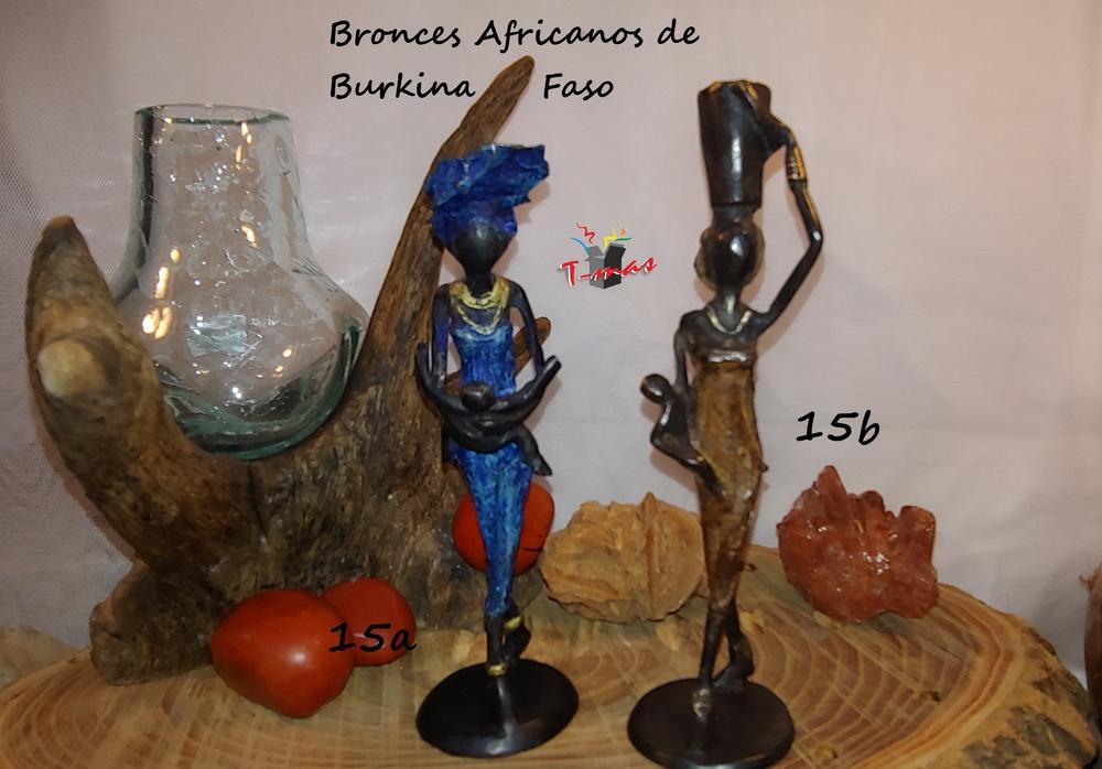 Mujeres Africanas con niños - Bronces Africanos