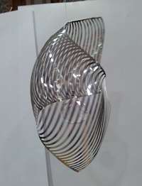 Spiral Shell with crystal ball - Wind Mobile and spiral