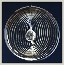 Steel Circular grille crystal ball