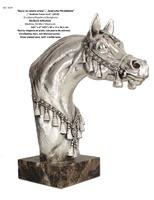 """Ángeles Anglada - """"Busto de caballo árabe"""" chapado en plata"""