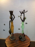 "African Bronzes - ""Woman with two water jug"""