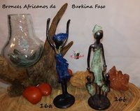 African women with children or dancing- African Bronzes