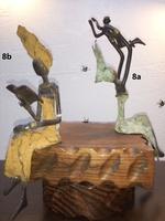 """Afrikanische Bronzefiguren - """"Frau sitzend Erziehendes Kind"""" und """"Frau sitzend lesend"""""""