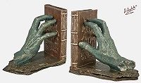 "Angeles Anglada - ""Hands of Don Quixote"" bookends"
