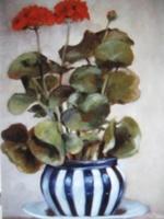 Carla Monti - Vaso di gerani - Vase with geranium