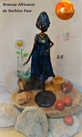 """Elegant African Woman"" - African Bronzes"