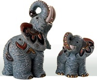 Familie von Samburu Elefanten - DeRosa-Rinconada