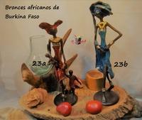 """""""Frauen gehen mit Kindern"""" - Afrikanische Bronzen"""